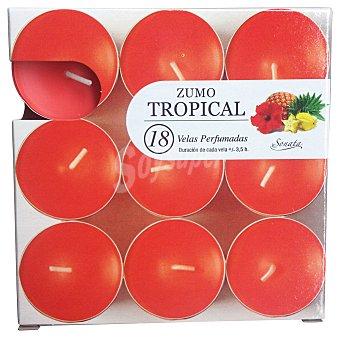 SONATA Vela perfumada pequeña aroma tropical Paquete de 18 uds
