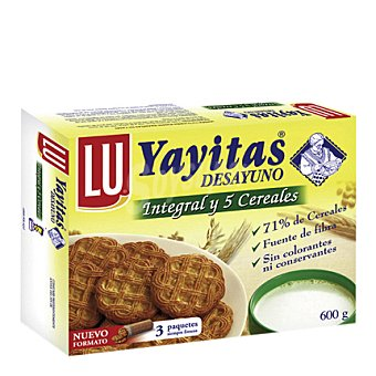 Lu Galletas Yayitas integrales con 5 cereales 600 g