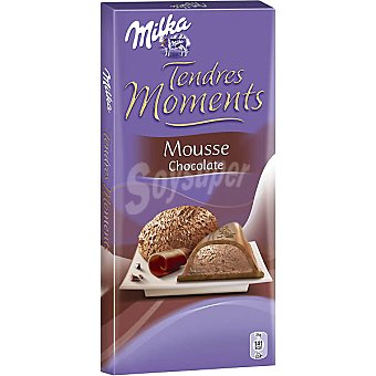 Milka Tendres moments. Chocolate con leche relleno de mousse de chocolate Tableta 160 g