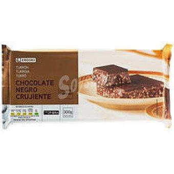 Eroski Turrón de chocolate negro crujiente Caja 300 g