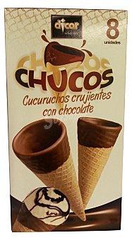 Dicar Barquillo cucurucho chocolate para helado *verano* Paquete 8 u