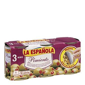 La Española Aceitunas rellenas de pimiento Pack 3x50 g