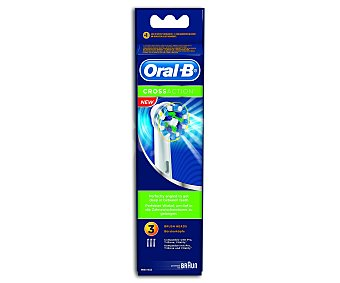BRAUN ORALB CROSS ACTION Recambio cepillo dental 3 unidades