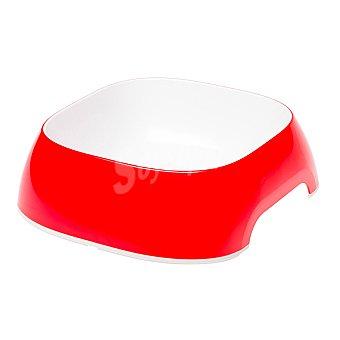 Ferplast Comedero para mascotas color rojo capacidad medidas 20x18,5x6 cm 1 unidad 0,75 l