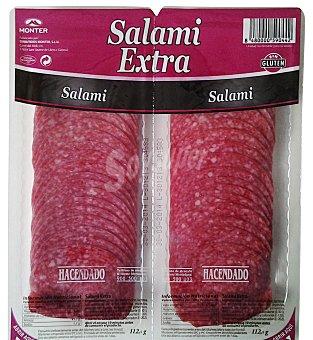 Hacendado Salami extra suave lonchas Pack 2 de 112,5gr