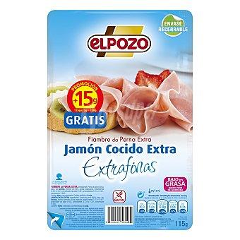 ElPozo Jamón cocido extra 125 g