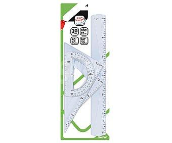 Auchan Set de trazado (reglas) auchan 4 pzas