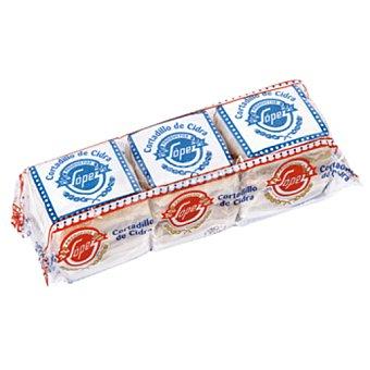 PRODUCTOS LOPEZ Cortadillos de polvorón Paquete 225 gr
