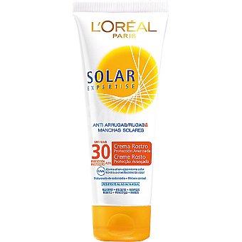 Expertise L'Oréal Paris Crema solar antiarrugas & manchas solares FP-30 para rostro escote y manos Tubo 75 ml