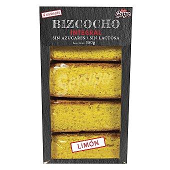 Garpe Bizcocho integral sin azucar y sin lactosa limon 350 g