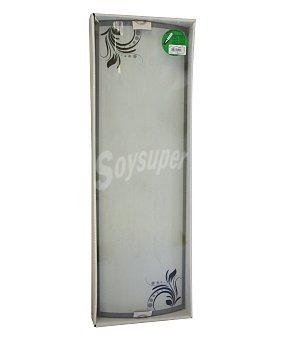 ACB Plafón rectangular fabricado en cristal con elegantes diseños de ramas en color negro, modelo Rama, con 2 casquilos E27 con potencia máxima de 20 watios 1 unidad
