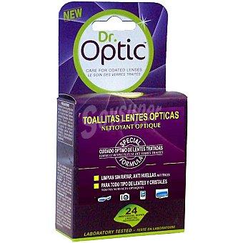 Dr. Optic Toallitas lentes ópticas para todo tipo de lentes y cristales Caja 24 unidades