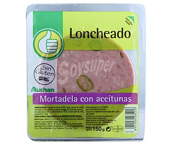 Productos Económicos Alcampo Mortadela con aceitunas 150 gramos