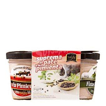 Valdy Tripack supremas de paté pimienta, oporto y finas hierbas Pack de 3x110 g