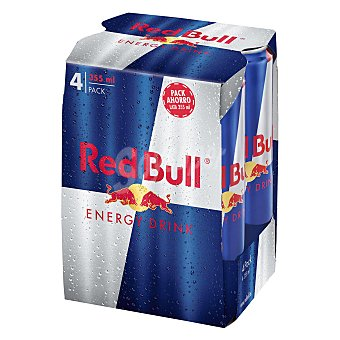 Red Bull bebida energética pack 4 latas 35,5 cl