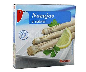 Auchan Navajas chilenas machas al natural Lata de 65 gramos