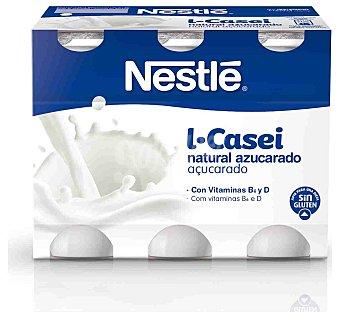 Nestlé Yogur Lcasei natural azucarado 6 unidades de 100 g
