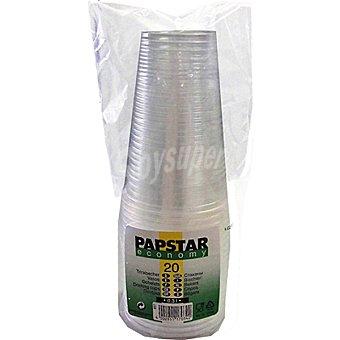 Papstar Vaso plástico blanco paquete 20 unidades 20 cl