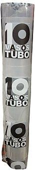 CP5 Vaso desechable de plástico tubo 330 ml transparente Paquete de 10 unidades