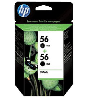 HP Pack twin tinta n56 negro x2 hp