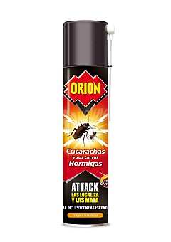 Orion Insecticida total attack matacucarachas y hormigas Spray 400 ml