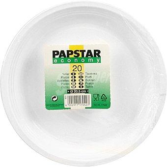 Papstar Plato Economy plástico 20,5 cm Paquete 20 unidades