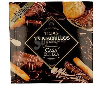 CASA ECEIZA Surtido de tejas y cigarrillos de Tolosa bañados en chocolate 350 g