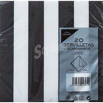 CASACTUAL Servilletas Rayas 2 capas 38X38 CM Paquete 20 unidades