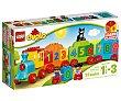 Juego de construcciones con 23 piezas El tren de los números, Duplo 10847 lego  Lego duplo