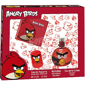 ANGRY BIRDS Red eau de toilette natural spray 50 ml + bloc de notas + colgante chapa Spray 50 ml