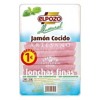 ElPozo jamón cocido artesano All Natural 8 lonchas finas envase 90 g