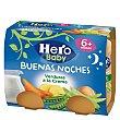 Tarritos de verduras a la crema desde 6 meses Pack 2 tarros x 190 g Hero Baby Buenas Noches