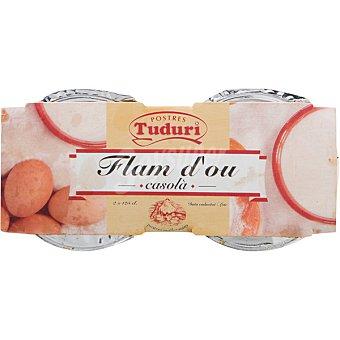 Tuduri Flan de huevo Pack 2 unidades 125 g