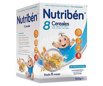 Nutribén Papilla en polvo de 8 cereales a partir de 6 meses 600 g