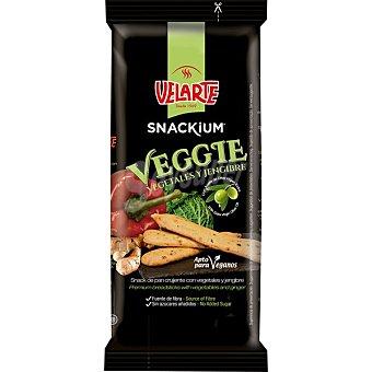 Velarte Snackium Veggibarritas de pan con vegetales y jengibre Envase 67 g