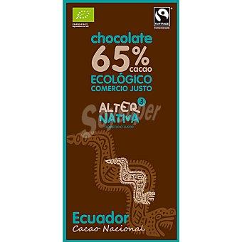 Alternativa 3 Chocolate negro Ecuador 65% cacao ecológico Tableta 80 g