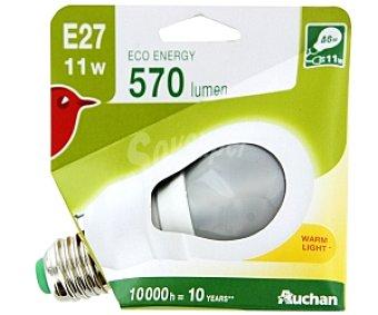 AUCHAN Bombilla bajo consumo Estándar E27 11W 1 Unidad