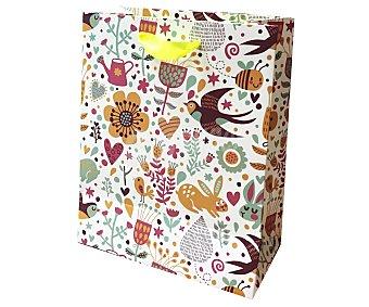 DMM Bolsa de regalo de Animales y Flores (M) 18X23X10 cm, 210G