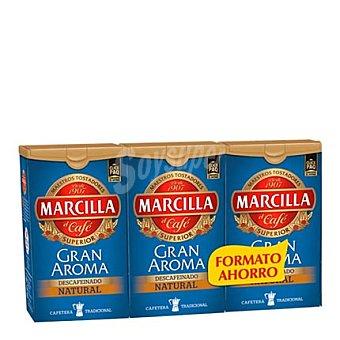 Marcilla Café descafeinado pack de 3x200 g