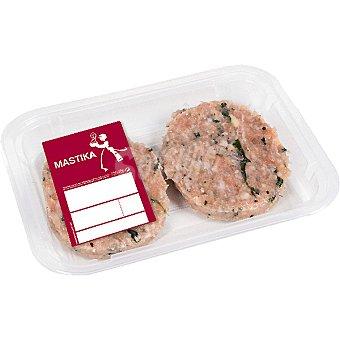 MASTIKA Hamburguesa caprichosa mixta de vacuno y cerdo 2 unidades envase 180 g 2 unidades