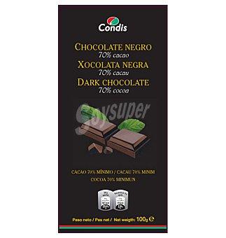 Condis Chocolate negro 70% 100 GRS