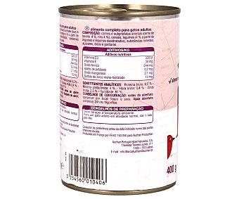 Auchan Comida Húmeda para Gato de Bocaditos Salsa Buey Lata de 400 Gramos
