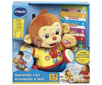 V-tech Aprendo a leer con Armando, monito de peluche interactivo con 5 modos de juego y 5 libros VTECH.