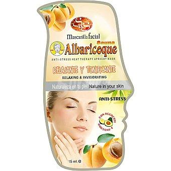 Sys Mascarilla facial sauna albaricoque envase 15 ml relajante & tonificante anti-stress Envase 15 ml