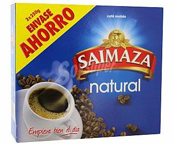 Saimaza Cafe molido natural 2X250 gr+descafeinado 250 GR