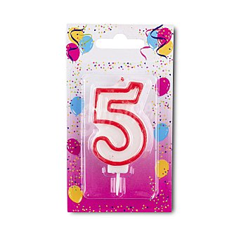 Vela cumpleaños N 5 u