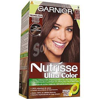 NUTRISSE Ultra Color Tinte castaño tiramisú nº 4.15 coloración permanente nutritiva caja 1 unidad especial cabello oscuro Caja 1 unidad