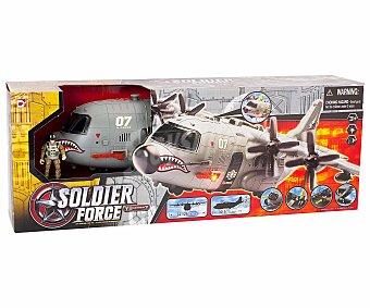 Soldier force Avión Militar con luces y sonidos 1 Unidad