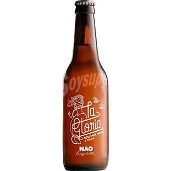 NAO La Gloria cerveza rubia artesana tipo Berliner Weiss de Lanzarote Botella 33 cl