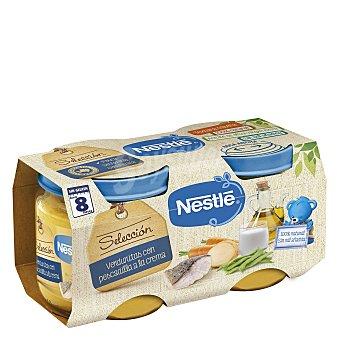 Naturnés Nestlé Selección tarritos de verduras con pescadilla a la crema sin gluten pack 2x200g Estuche 400 g